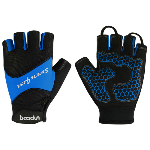 SPORT BLUE HALF FINGER CYCLING GLOVES