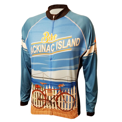 MACKINAC ISLAND MEN'S LONG SLEEVE CYCLING JERSEY