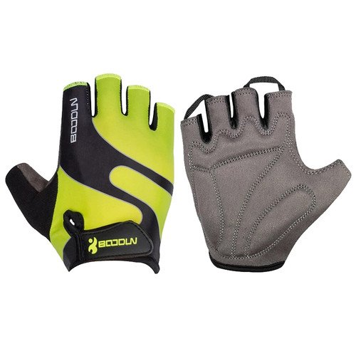 RACER'S EDGE GREEN CYCLING GLOVES