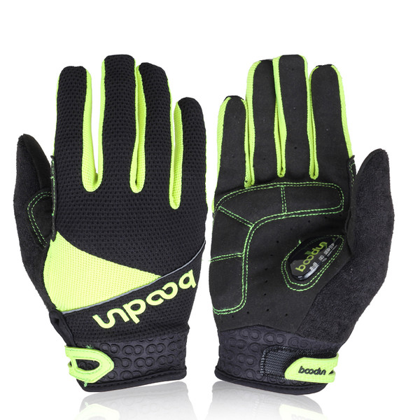 TEMPEST YELLOW FULL FINGER CYCLING GLOVES