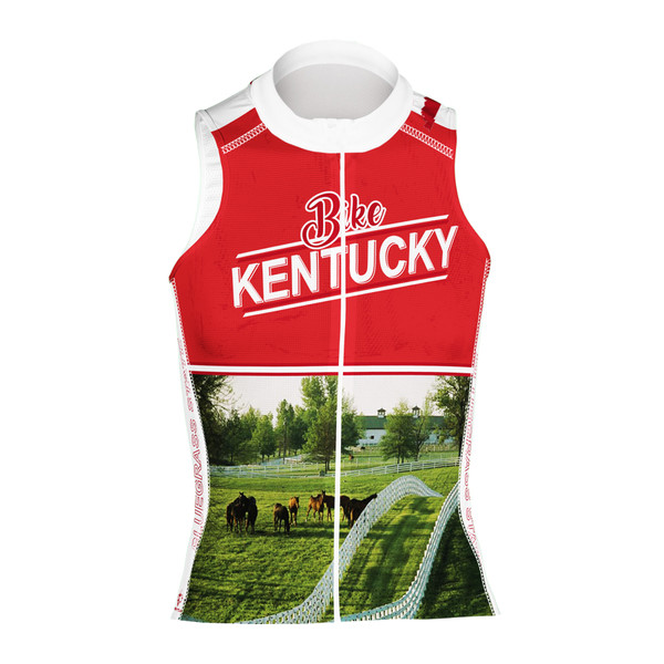 KENTUCKY RED WOMEN'S SLEEVELESS CYCLING JERSEY