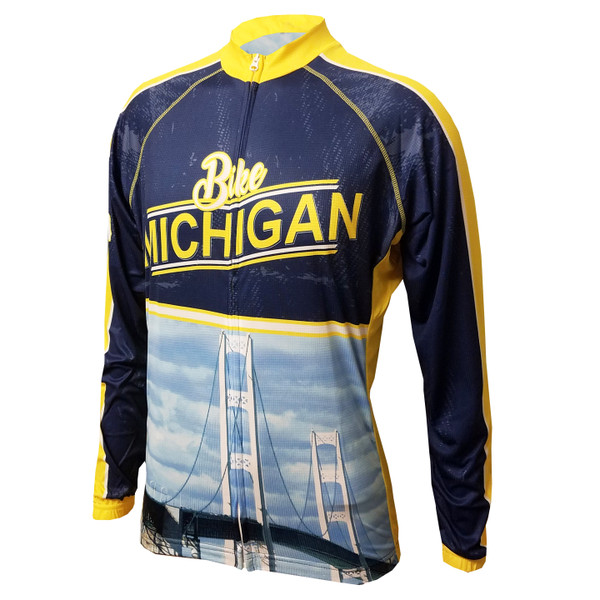 MICHIGAN II MEN'S LONG SLEEVE CYCLING JERSEY