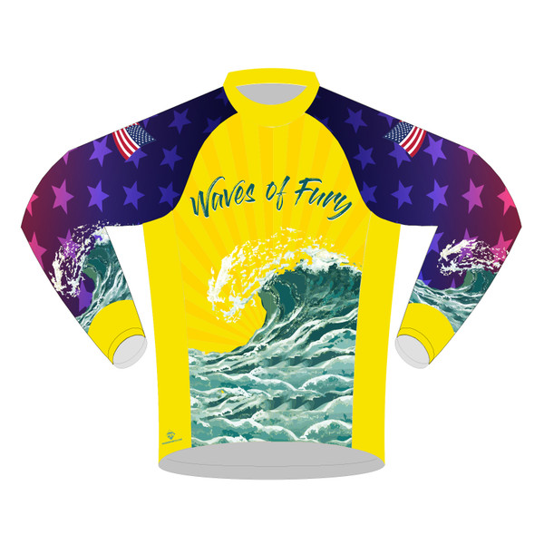 WAVES OF FURY -- LONG SLEEVE CYCLING JERSEY
