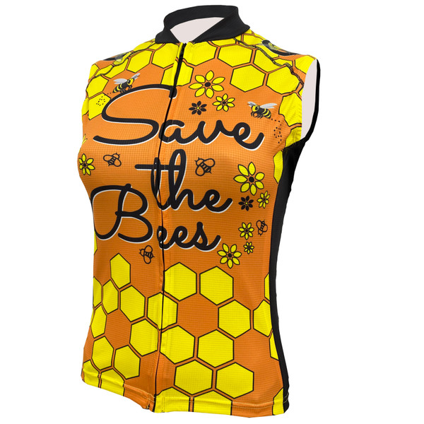 SAVE THE BEES WOMEN'S SLEEVELESS CYCLING JERSEY