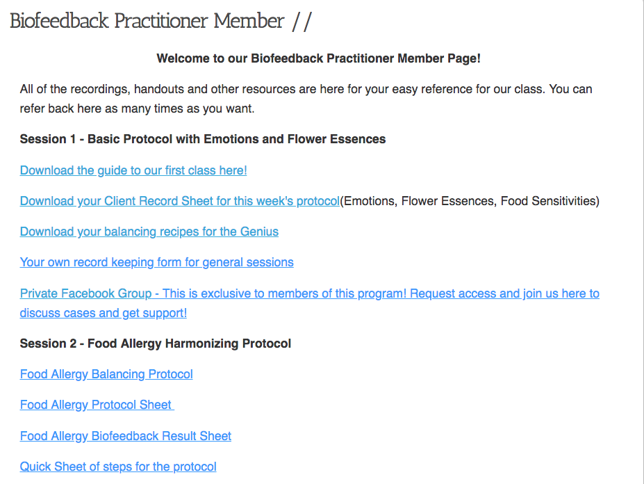Biofeedback Resonance Practitioner Training 1
