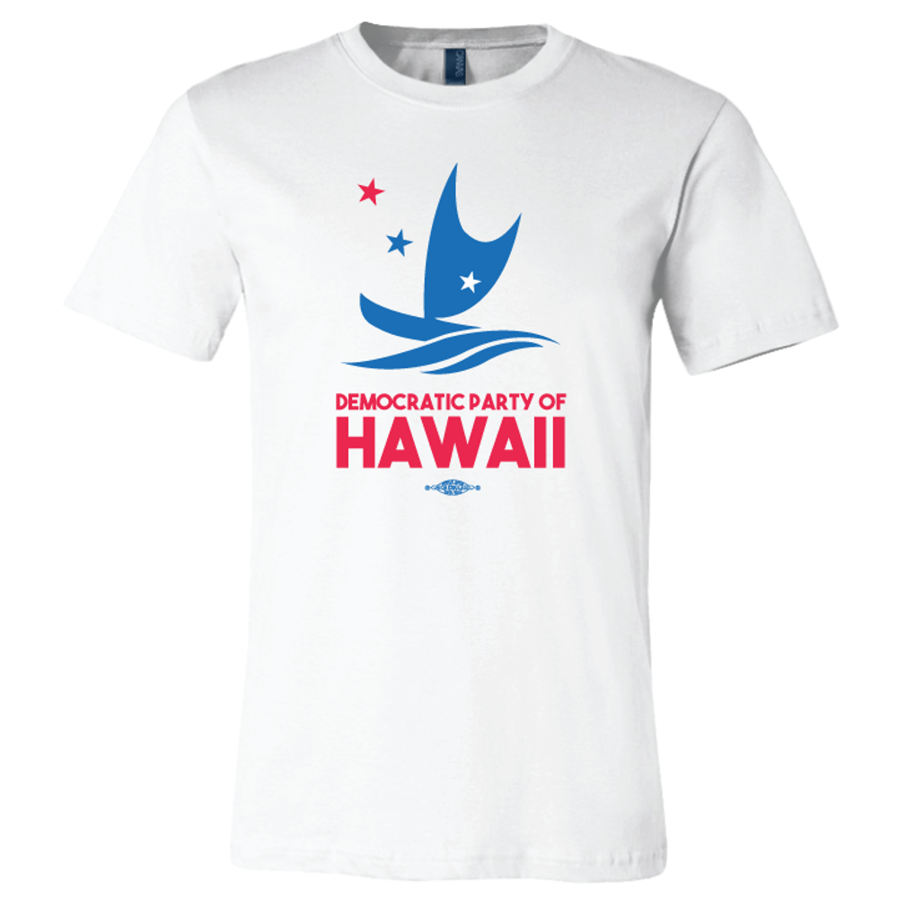 Democratic Party Of Hawaii Official Logo (White Tee)