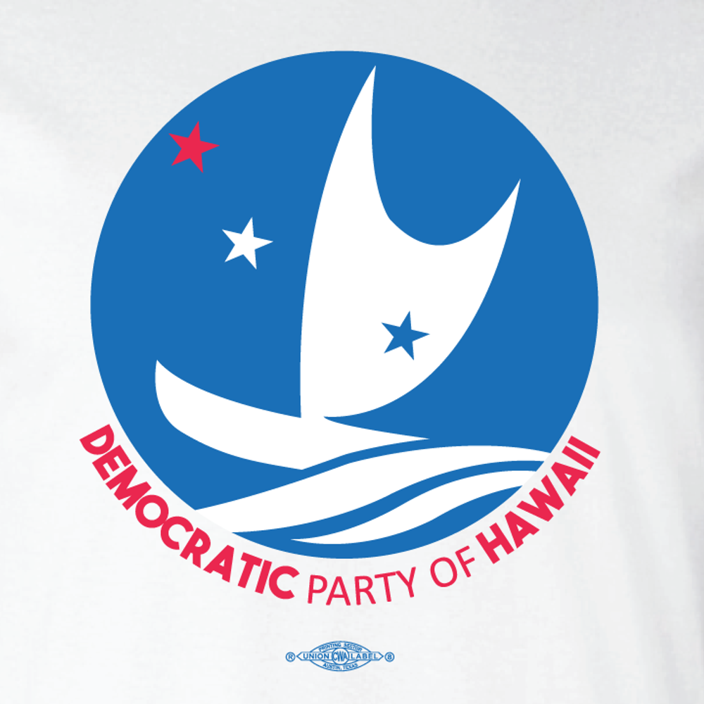 Democratic Party of Hawaii - Circular Logo (White Tee)