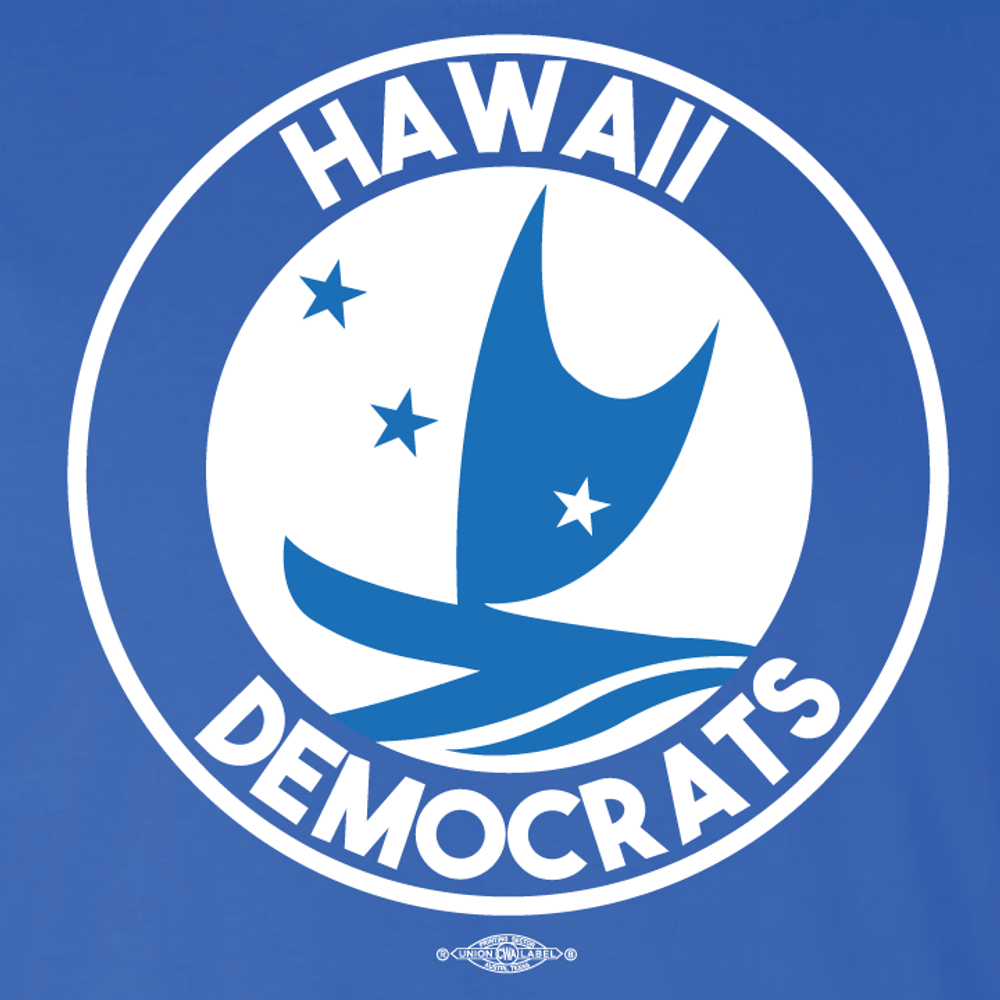 Hawaii Democrats - Circular Graphic (Royal Blue Tee)