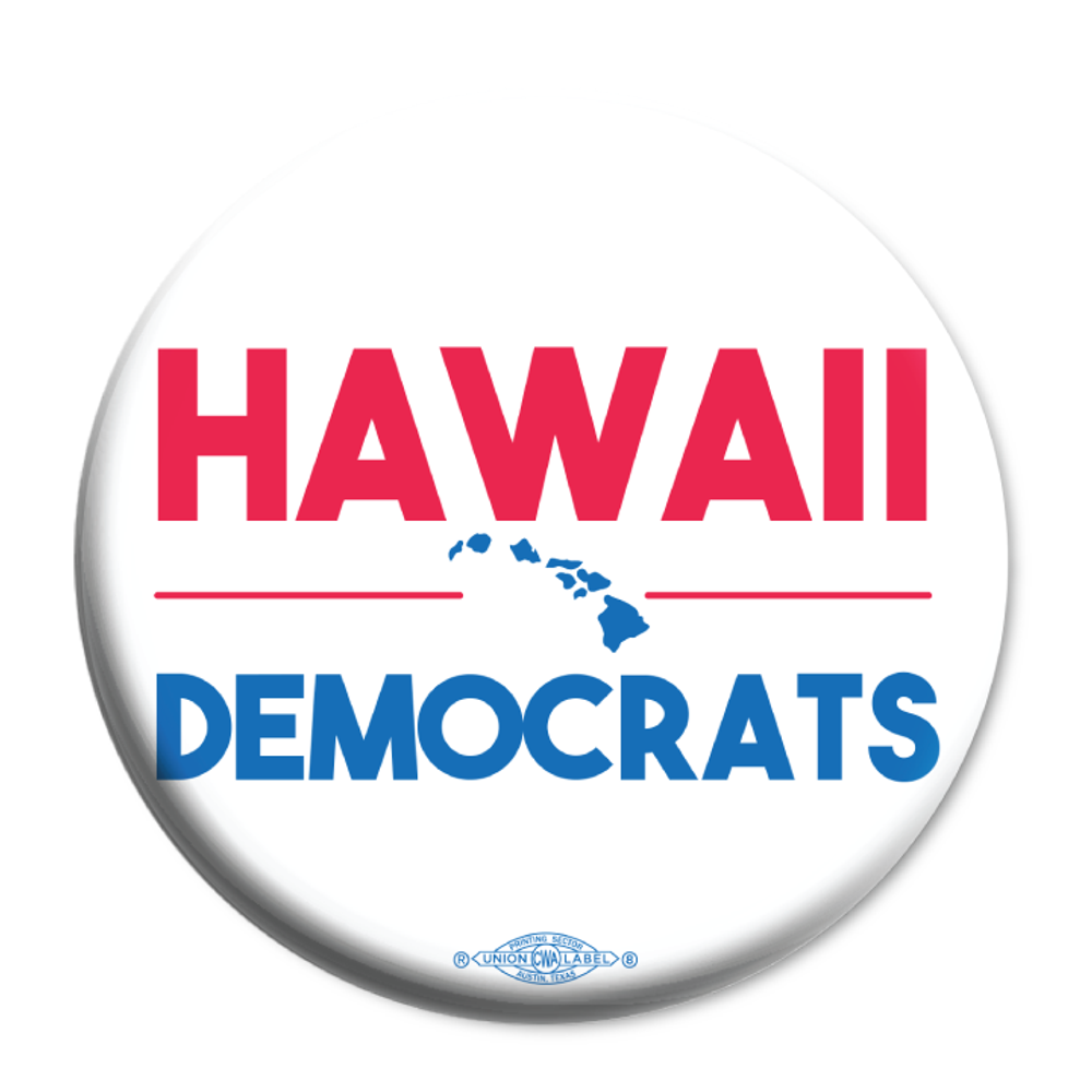"Hawaii Democrats Islands (2.25"" Mylar Button -- Pack Of Two!)"