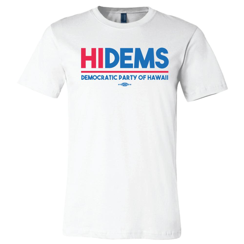 HI DEMS Rectangular Logo (White Tee)