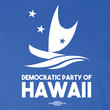 Democratic Party Of Hawaii Official Logo  (Royal Blue Tee)