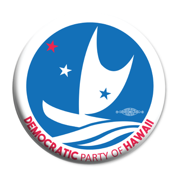 "Democratic Party of Hawaii - Circular Logo (2.25"" Mylar Button -- Pack Of Two!)"