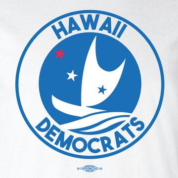 Hawaii Democrats - Circular Graphic (White Tee)