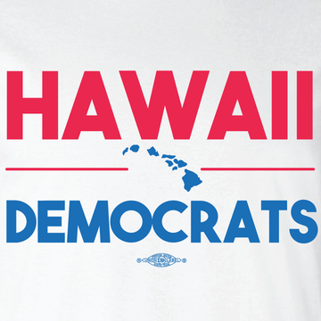 Hawaii Democrats Islands (White Tee)