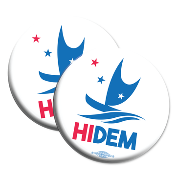"HIDEMS Boat Logo (2.25"" Mylar Button -- Pack Of Two!)"
