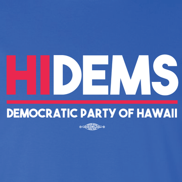HI DEMS Rectangular Logo (Royal Blue Tee)