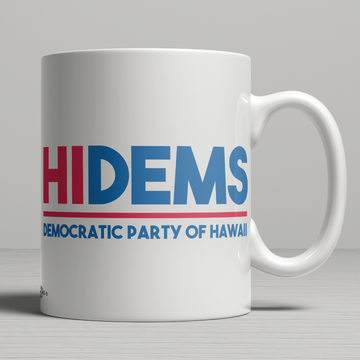 HI DEMS Rectangular Logo (11oz. Coffee Mug)