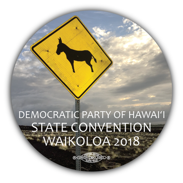 "Hawaii State Convention Waikoloa 2018 (3.5"" x 3.5"" Vinyl Sticker -- Pack of Two!)"