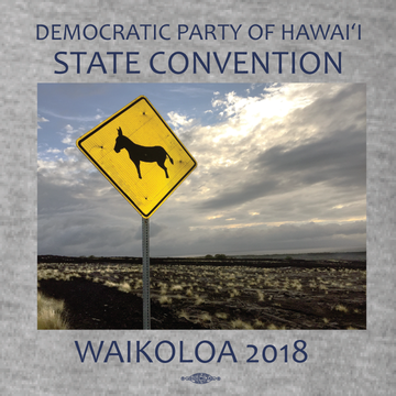 Hawaii State Convention Waikoloa 2018 (Dark Ash Pocket Tee)