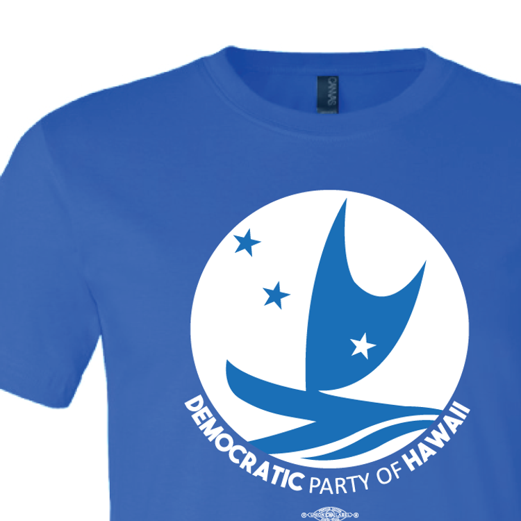 Democratic Party of Hawaii - Circular Logo (Royal Blue Tee)
