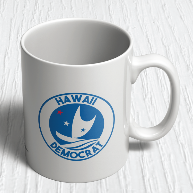Hawaii Democrats - Circular Graphic (11oz. Coffee Mug)