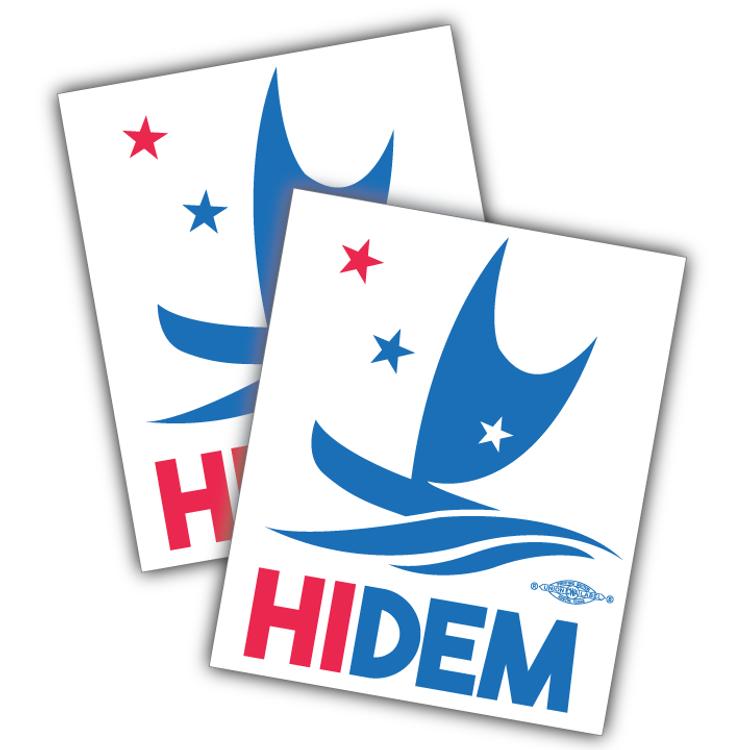 "HIDEMS Boat Logo (4"" x 5"" Vinyl Sticker -- Pack of Two!)"