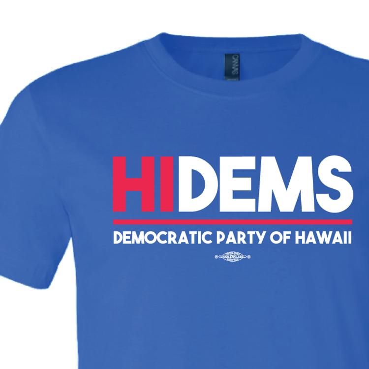 HI DEMS Rectangular Logo (Royal Blue Tee)