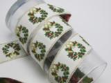 "Christmas Garland Jacquard Ribbon 1 1/2"" (38.1mm)"