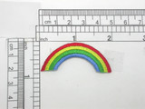 """Rainbow Patch Iron On Embroidered Applique  Measures 2"""" across x 7/8"""" high"""