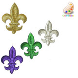 "Fleur De Lys Embroidered Iron on Patch Applique   Measures 7/8"" across x 1 1/8"" high"
