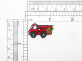 Fire Truck Mini Patch 5 Pack Embroidered Iron on Applique