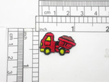 "Dump truck Tipper Patch Mini Iron On Embroidered Applique  5 Pack   Measures 1"" across x 5/8"" high"