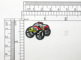 Monster Truck Patch Mini Iron On Embroidered Applique 5 Pack