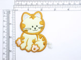 Cat Patch with Rope Tail Iron On Embroidered  Applique