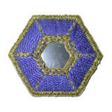 Hexagon Mirrored Blue