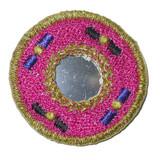 Round Mirrored Cerise
