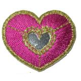 Heart Mirrored Pink