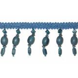 """Beaded Fringe 1 1/4"""" Turquoise on Gimp"""