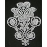 Venise Lace Applique - Flower White