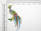 Exotic Bird of Paradise Embroidered Iron On Applique