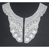 Collar Appliques Embroidered Ivory L & R