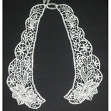 Collar Appliques Venise L & R WHITE.