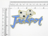 Dice Craps Jackpot Gambling Patch Iron On Embroidered Applique
