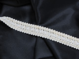 """Braid 1"""" 25mm   Antique White Beadette Fan Priced Per yard Cold Water  Wash Line dry  60% Rayon 40% Cotton      Very Soft high quality US Made Braid."""