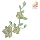Brocade Flower Spray