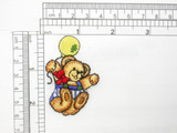 """Bear with Balloon Patch Iron On Embroidered Applique   Measures 1 1/2"""" across x 2 1/4"""" high"""