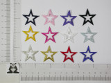 """Open Star 1 1/4"""" (31.75mm) Embroidered Iron On Patch Applique"""