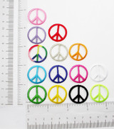 "Iron On Patch Applique - Peace Sign 1"" *Colors*"