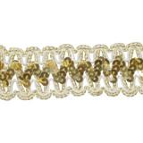 """Sequin Braid 1.5"""" Put Ups Metallic Gold"""