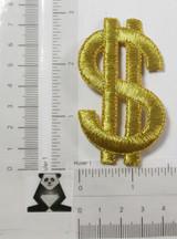 "Dollar Sign $ Metallic 2 7/8"" High"